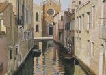 Venezia calle con chiesa