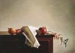 Natura morta con mela rossa