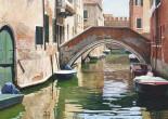 Calle di Venezia con ponte