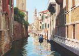 Venezia, calle con campanile