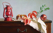 Still life with red lantern