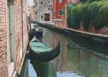 Venezia, gondola verde