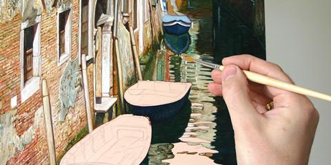 Tecnica di pittura di Licio Passon